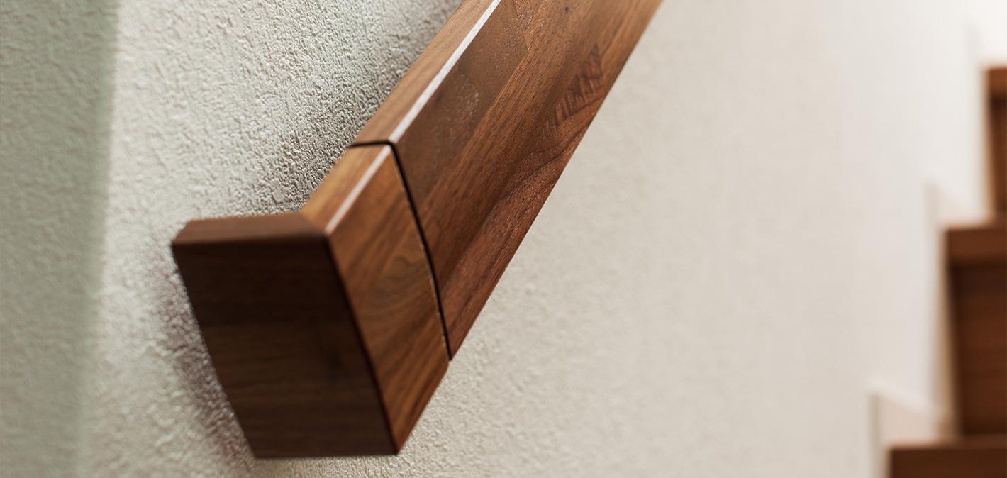 Precious solid wood handrail (wall-mounted handrail ...
